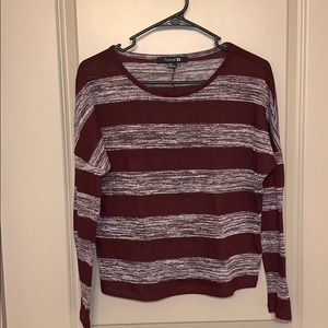Forever 21 long sleeve maroon top size M